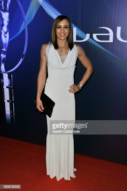 Track and field athlete Jessica Ennis attends the 2013 Laureus World Sports Awards at the Theatro Municipal Do Rio de Janeiro on March 11 2013 in Rio...