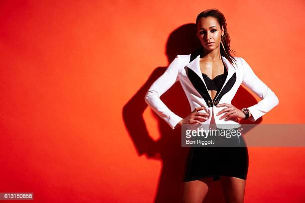 Track and field athlete Jessica Ennis is photographed for GQ magazine on November 30 2011 in London England