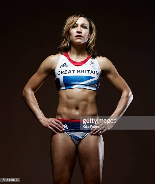 Track and field athlete Jessica Ennis is photographed for the Guardian on September 10 2010 in London England