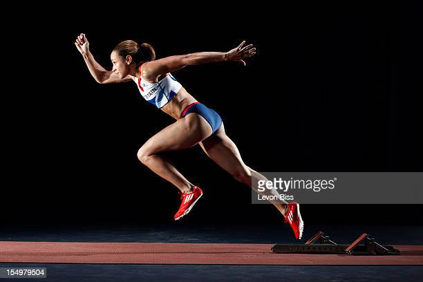 Track and field athlete Jessica Ennis is photographed for Time magazine London on May 31 2012 in London England