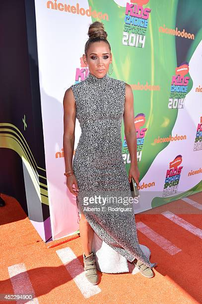 Track and field athlete Lolo Jones attends Nickelodeon Kids' Choice Sports Awards 2014 at UCLA's Pauley Pavilion on July 17 2014 in Los Angeles...
