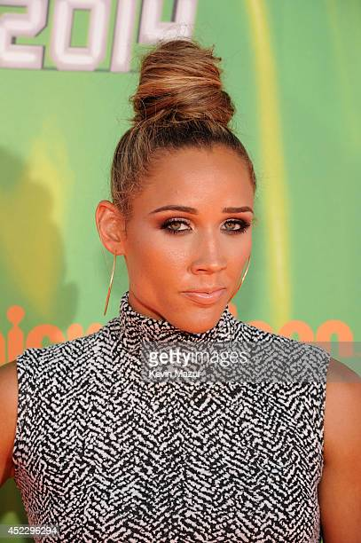 Track and field athlete Lolo Jones attends Nickelodeon Kids' Choice Sports Awards 2014 at UCLA's Pauley Pavilion on July 17, 2014 in Los Angeles,...