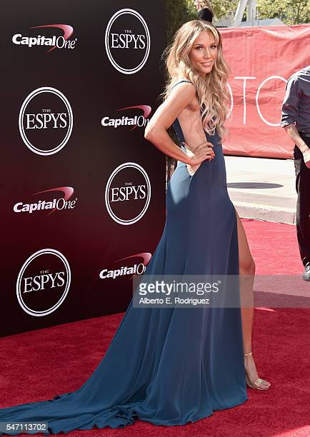 Track and field athlete Lolo Jones attends the 2016 ESPYS at Microsoft Theater on July 13 2016 in Los Angeles California
