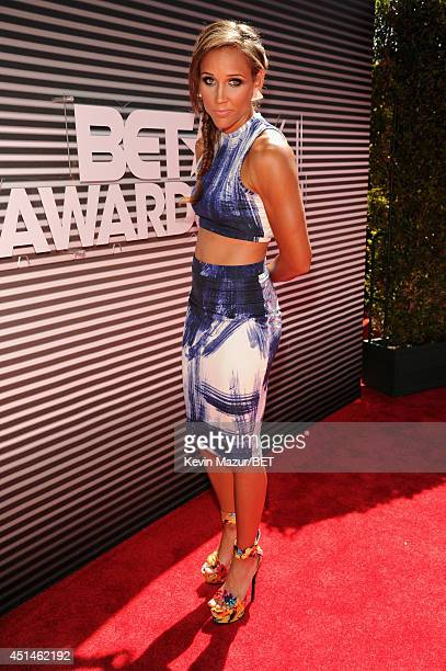 Track and Field athlete Lolo Jones attends the BET AWARDS '14 at Nokia Theatre LA LIVE on June 29 2014 in Los Angeles California