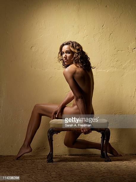 Track and field athlete Lolo Jones photographed for ESPN The Magazine the 2009 Body Issue on September 17 2009 in New Orleans Louisiana