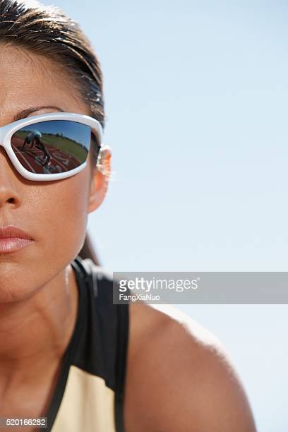 track and field athlete with sunglasses - forward athlete stock pictures, royalty-free photos & images