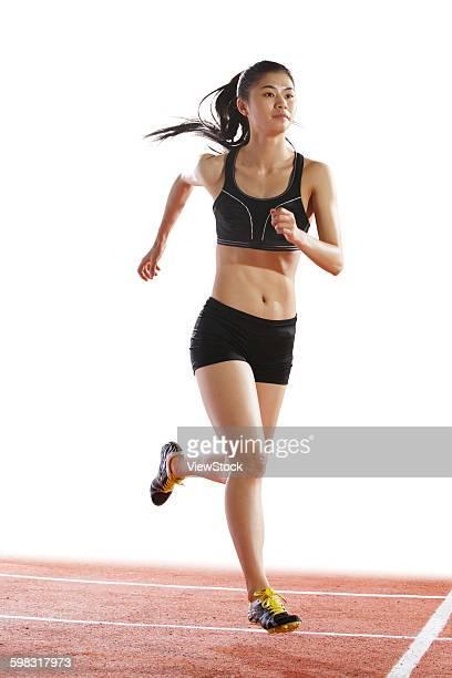 track and field athletes running - 陸上競技大会 ストックフォトと画像