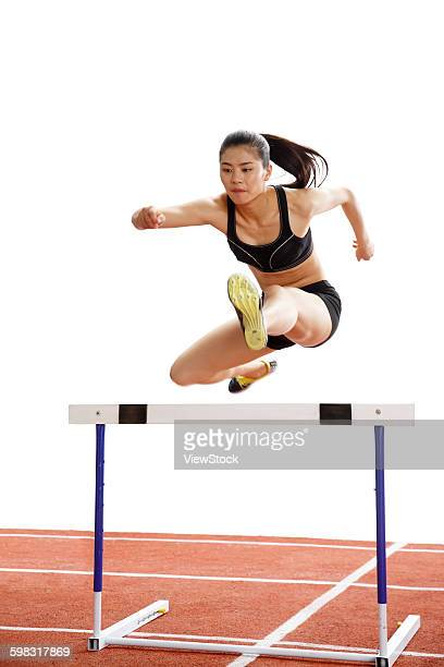 Track and field athletes to do hurdles