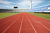 Track and field training lanes
