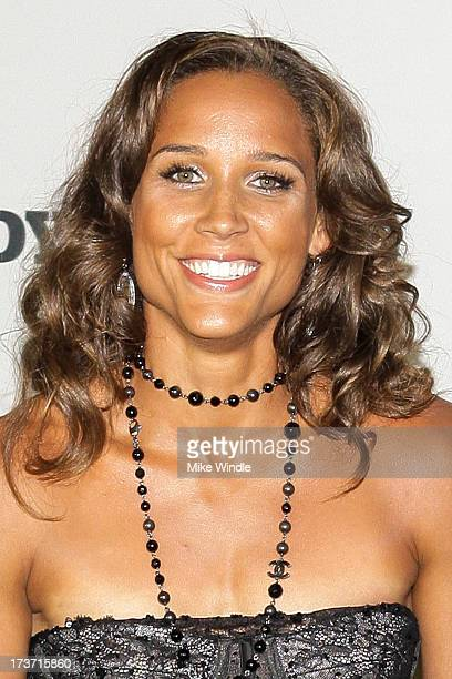 Track and field/bobsled athlete Lolo Jones arrives at ESPN the Magazine's Body Issue 5th annual ESPY's event at Lure on July 16 2013 in Hollywood...