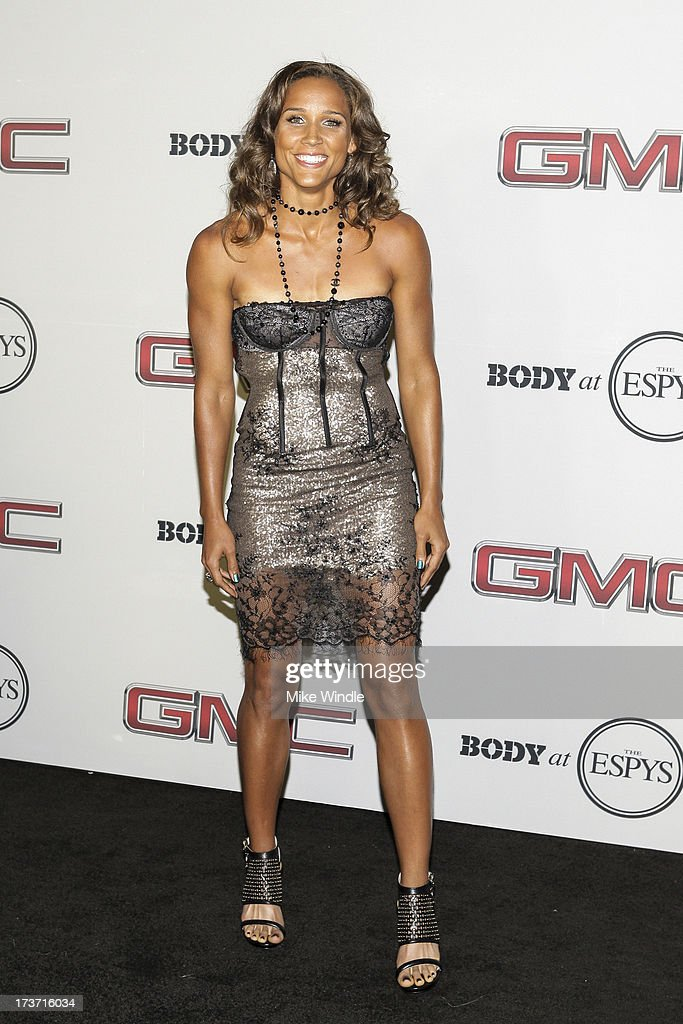 Track and field/bobsled athlete Lolo Jones arrives at ESPN the Magazine's 'Body Issue' 5th annual ESPY's event at Lure on July 16, 2013 in Hollywood, California.
