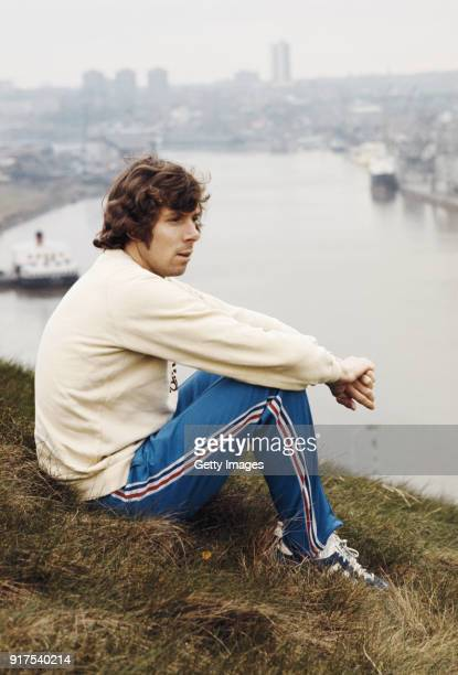 Track Athlete Brendan Foster pictured on the banks of the river Tyne circa 1977 in Gateshead England