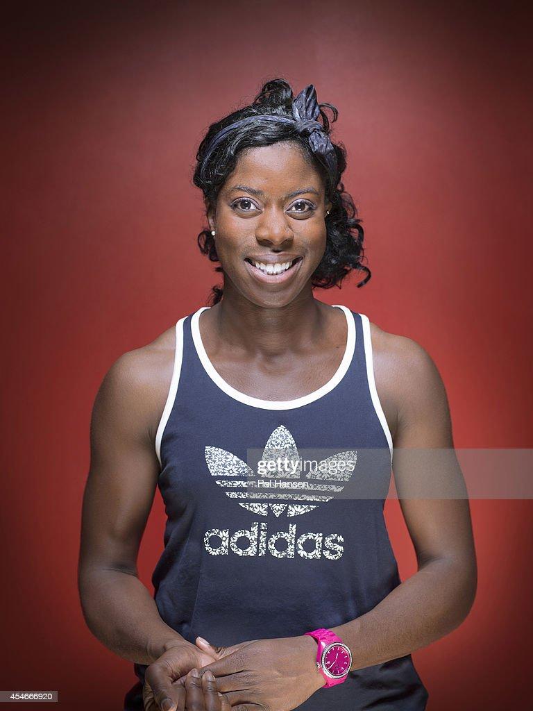 Track athlete Christine Ohuruogu is photographed for the Observer on November 12, 2013 in London, England.