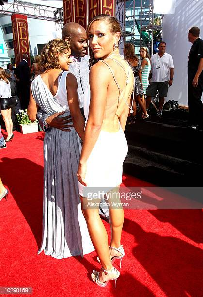 US track athlete Lolo Jones arrives at the 2010 ESPY Awards at Nokia Theatre LA Live on July 14 2010 in Los Angeles California