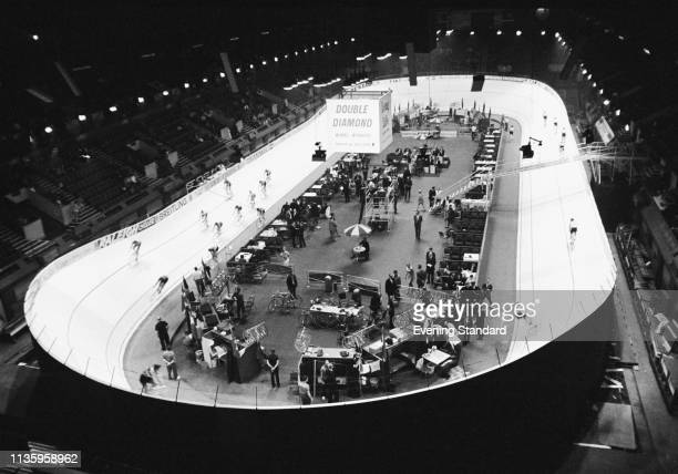 A track cycling event the third Skol International Six at the Empire Pool Wembley London UK 20th June 1969