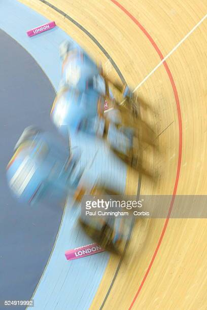 Track Cycling World Cup - Belgium Men's Team pursuit 4000m Qualifying event at the Olympic Park Velodrome, Stratford London 16 February 2012 ---...