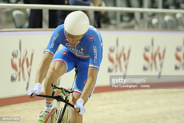 Track Cycling World Cup - Marco Coledan, Omar Bertazzo, Michele Scartezzini and Paolo Simion of Italy compete in the Men's Team pursuit 4000m...