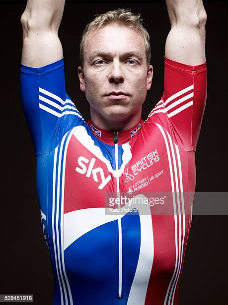 Track cyclist Chris Hoy is photographed for the Guardian on July 25, 2010 in London, England.