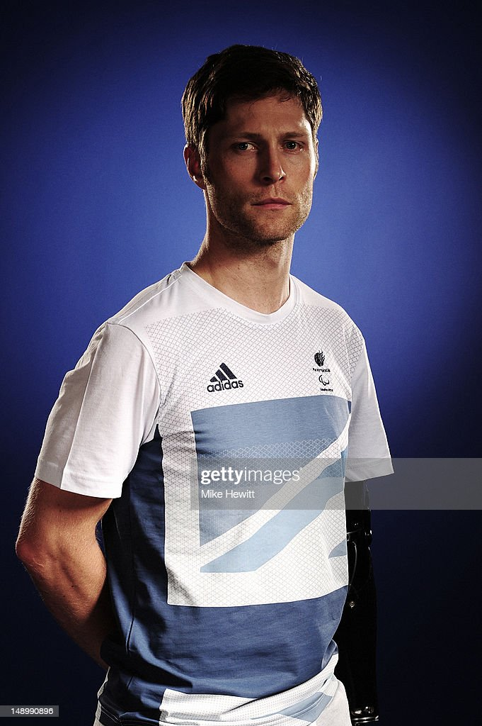 Track cyclist Jon-Allan Butterworth attends the Team GB Paralympic launch at the Park Plaza Hotel on July 13, 2012 in London, England