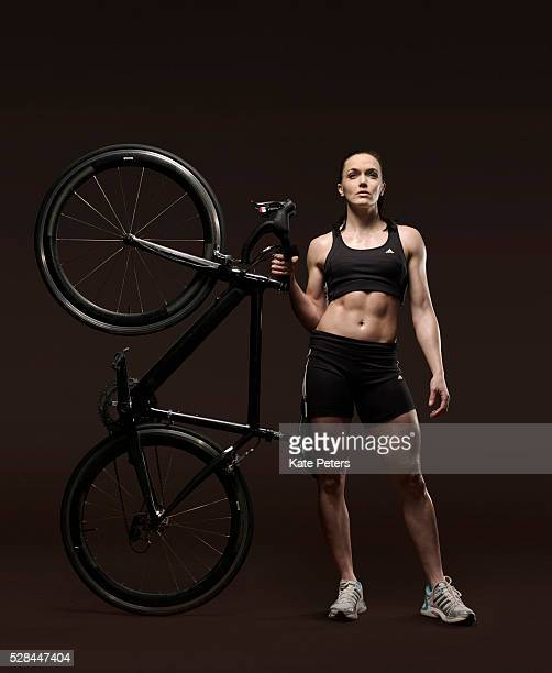 Track cyclist Victoria Pendleton is photographed for the Guardian on August 4 2010 in London England