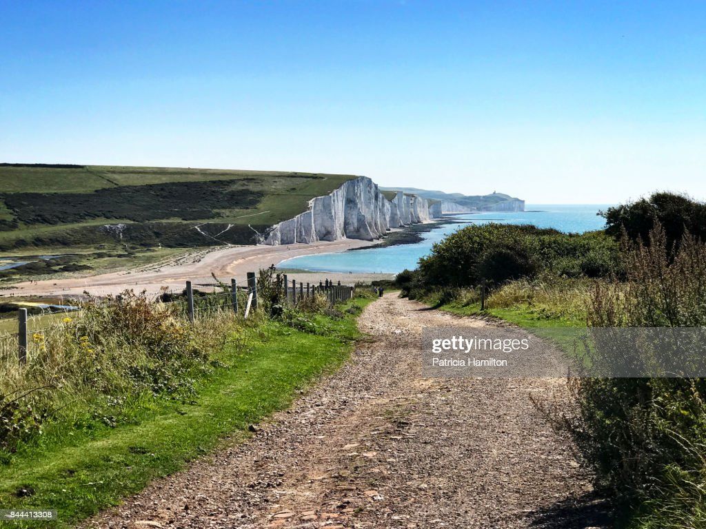 Track down to Cuckmere Haven : Stock Photo