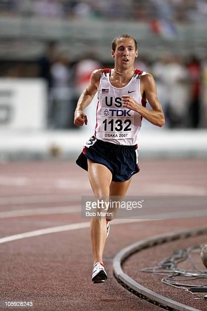 11th IAAF World Championships USA Dathan Ritzenhein in action during Men's 10000M Final at Nagai Stadium Osaka Japan 8/27/2007 CREDIT Bob Martin