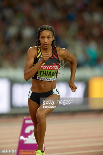 16th IAAF World Championships Belgium Nafissatou Thiam in action during Heptathlon at Olympic Stadium London England 8/6/2017 CREDIT Bob Martin