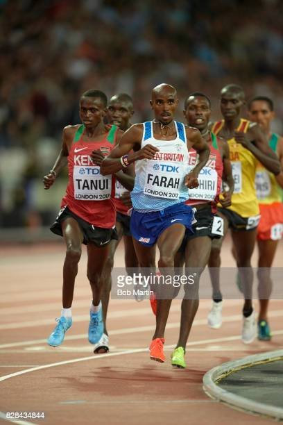 16th IAAF World Championships Great Britain Mo Farah in action during Men's 10000M race at Olympic Stadium London England 8/4/2017 CREDIT Bob Martin
