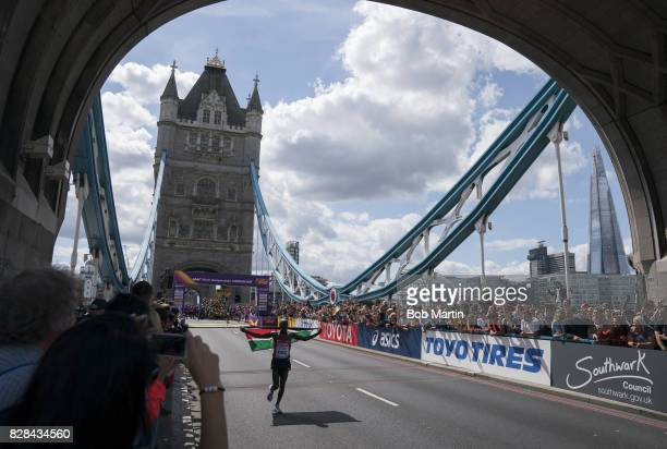 16th IAAF World Championships Kenya Geoffrey Kirui victorious after winning Men's Marathon at Tower Bridge London England 8/6/2017 CREDIT Bob Martin