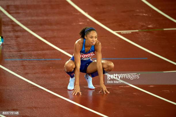 16th IAAF World Championships USA Allyson Felix before Women's 400M Final race at Olympic Stadium London England 8/9/2017 CREDIT Bob Martin