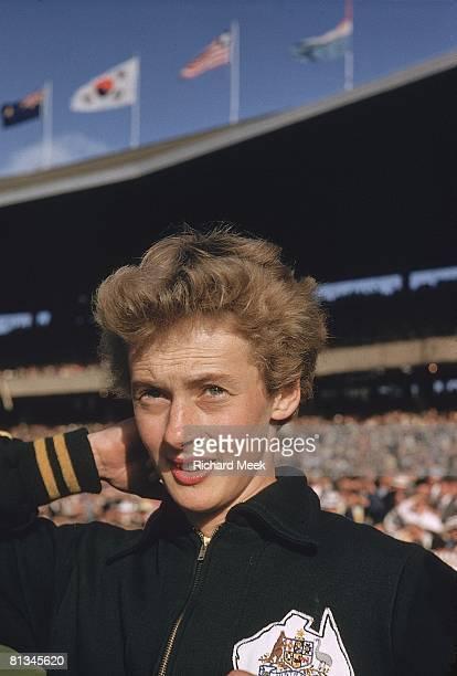 Track Field 1956 Summer Olympics Closeup of AUS Betty Cuthbert Melbourne AUS 12/8/1956