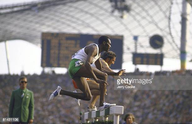 Track & Field: 1972 Summer Olympics, KEN Kip Keino in action during 3000M steeplechase race, Munich, FRG 8/26/1972--9/11/1972