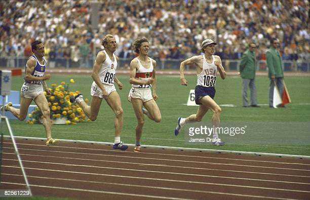 1972 Summer Olympics USA David Wottle in action leading Men's 800M race at Olympiastadion Munich West Germany 8/26/19729/10/1972 CREDIT James Drake