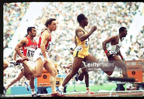 Track Field 1972 Summer Olympics USA Lennox Miller in action during 100M race Munich FRG 8/26/19729/11/1972