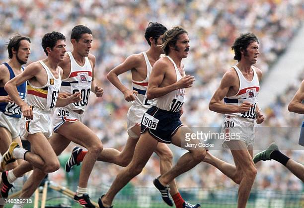 1972 Summer Olympics USA Steve Prefontaine in action during Men's 5000M Final at Olympic Stadium Munich West Germany 9/10/1972 CREDIT Jerry Cooke