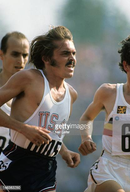 1972 Summer Olympics USA Steve Prefontaine in action during Men's 5000M Final at Olympiastadion Munich West Germany 9/10/1972 CREDIT Neil Leifer