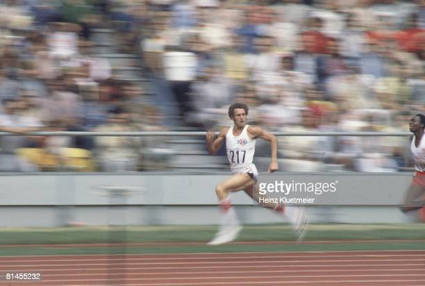 Track Field 1976 Summer Olympics CUB Alberto Juantorena in action during 400M race Montreal CAN 7/17/19767/31/1976
