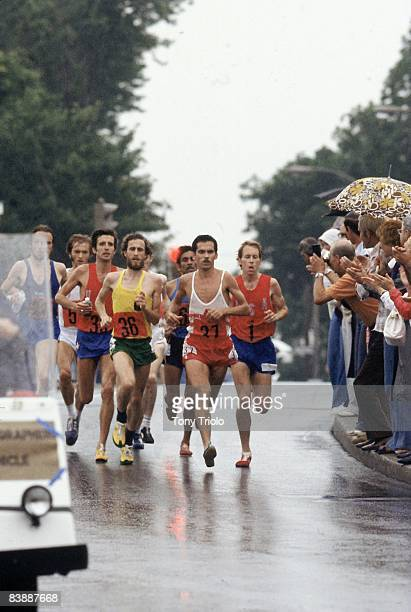 1976 Summer Olympics Miscellaneous runners in action during Men's Marathon Montreal Canada 7/31/1976 CREDIT Tony Triolo