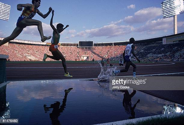 Track Field 1980 Summer Olympics Miscellaneous action during steeplechase competition Moscow USR 7/19/19808/3/1980