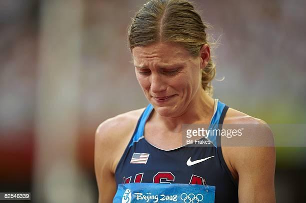 2008 Summer Olympics Closeup of USA Nicole Teter upset crying after Women's 800M Round 1 Heats at National Stadium Beijing China 8/15/2008 CREDIT...