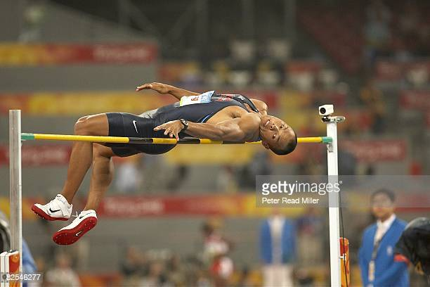 2008 Summer Olympics USA Bryan Clay in action during Men's Decathlon High Jump at National Stadium Beijing China 8/21/2008 CREDIT Peter Read Miller