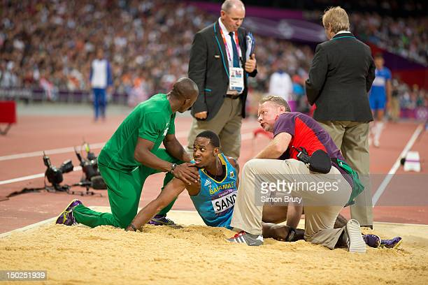 Summer Olympics Bahamas Leevan Sands during Men's Triple Jump Final at Olympic Stadium. Claye wins silver. London, United Kingdom 8/9/2012 CREDIT:...