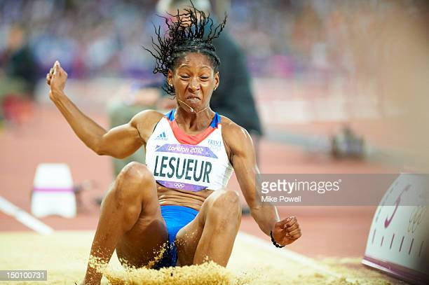 2012 Summer Olympics France Eloyse Lesueur in action during Women's Long Jump Final at Olympic Stadium London United Kingdom 8/8/2012 CREDIT Mike...