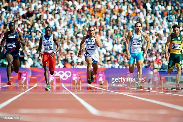 2012 Summer Olympics Liberia Jangy Addy Cuba Leonel Suarez Czech Republic Roman Sebrle Uzbekistan Rifat Artikov and South Africa Willem Coertzen in...
