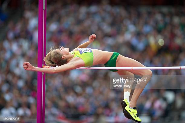 2012 Summer Olympics Lithuania Airine Palsyte in action during Women's High Jump Final at Olympic Stadium London United Kingdom 8/11/2012 CREDIT...