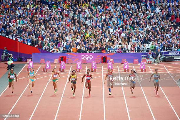 2012 Summer Olympics Nigeria Gloria Asumnu Kazakhstan Olga Bludova Bulgaria Ivet Lalova Jamaica ShellyAnn FraserPryce Trinidad Tobago KellyAnn...