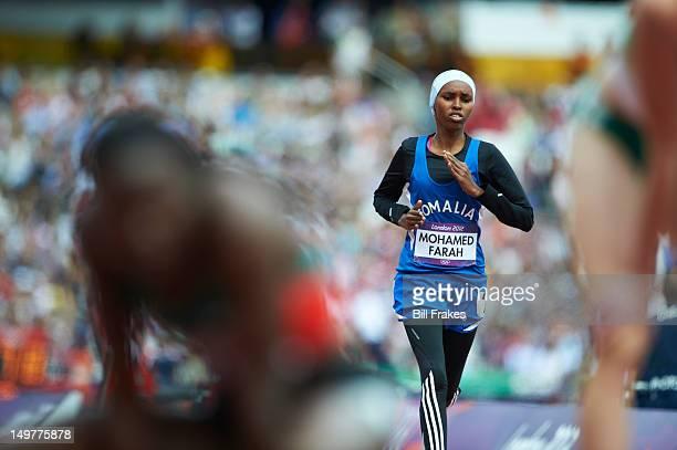 2012 Summer Olympics Somalia Zamzam Mohamed Farah in action during Women's 400M Round 1 at Olympic Stadium London United Kingdom 8/3/2012 CREDIT Bill...