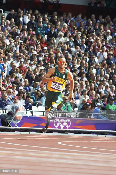 2012 Summer Olympics South Africa Oscar Pistorius in action during Men's 400M Heats at Olympic Stadium London United Kingdom 8/4/2012 CREDIT Heinz...