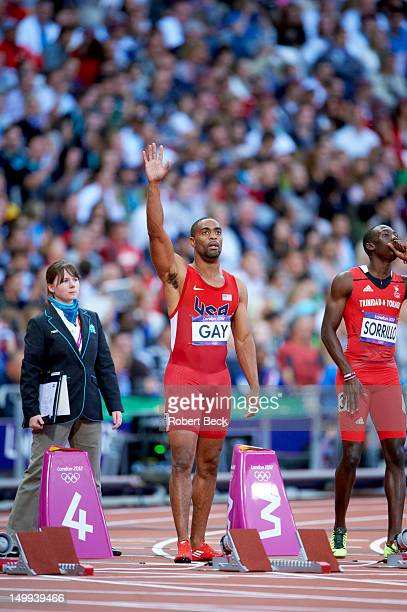 2012 Summer Olympics USA Tyson Gay before during Men's 100M Semifinals at Olympic Stadium London United Kingdom 8/5/2012 CREDIT Robert Beck