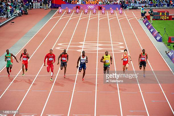 2012 Summer Olympics Zambia Gerald Phiri Trinidad Tobago Richard Thompson USA Ryan Bailey Antigua Daniel Bailey Great Britain Dwain Chambers Jamaica...